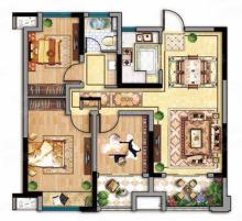 C户型 3室2厅1卫