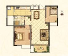 2室2厅1卫90m²简单装修