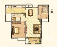 2室1厅1卫69m²简单装修