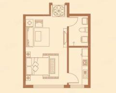 出租(宿豫区)尚海湾1室1厅1卫45平精装修