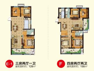 (开发区)逸品尚居3室2厅2卫126m²毛坯房