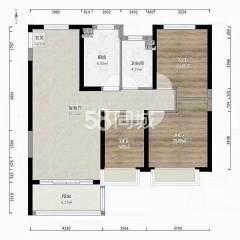 (苏宿园区)碧桂园剑桥湾3室2厅1卫112m²精装修