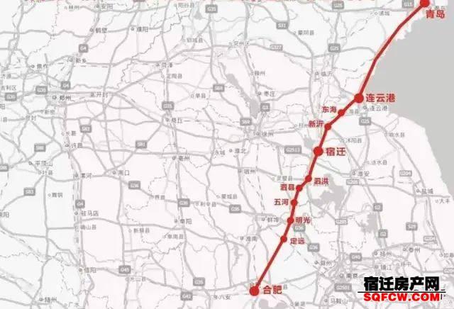 未来宿迁高铁分布:泗洪、泗阳各有2条,沭阳或无缘京沪二线(图3)